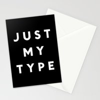 Just My Type Stationery Cards