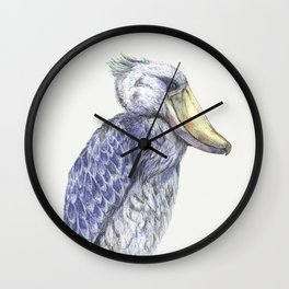 Shoebill Wall Clock