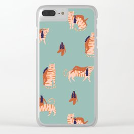 Tigers and girls Clear iPhone Case