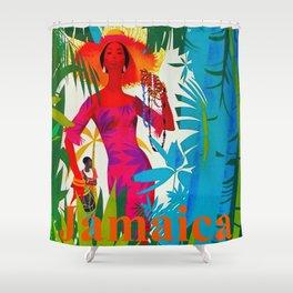 Vintage Caribbean Travel - Jamaica Shower Curtain