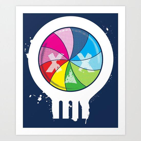 Pinwheel of Death Art Print
