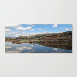 Cross Country American Landscapes - Clouds, Reflections, and Mountains Canvas Print