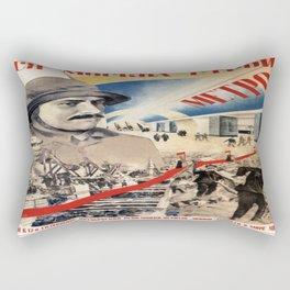 Vintage poster - Soviet Metro Rectangular Pillow