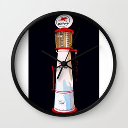 Mobil Gas Vintage Pump Wall Clock