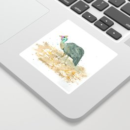 Blue helmeted Guinea fowl Sticker