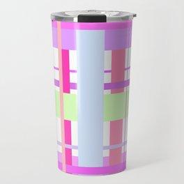 Spring Tartan - cool pink pattern Travel Mug