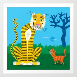 The Tiger and The Tom Cat Art Print
