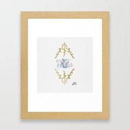 Koalas in Gold Framed Art Print