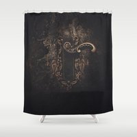 door Shower Curtains featuring door by Erica Petit Illustrations