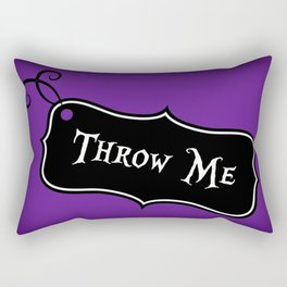 """""""Throw Me"""" Alice in Wonderland styled Bottle Tag Design in 'Shy Violets' Rectangular Pillow"""