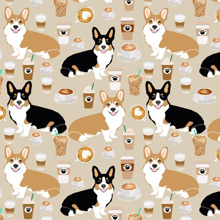 Corgi coffee welsh corgis dog breed pet lovers tan corgi crew Leggings