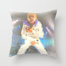 Biebs Throw Pillow