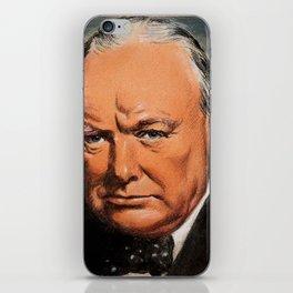 Winston Churchill Portrait iPhone Skin