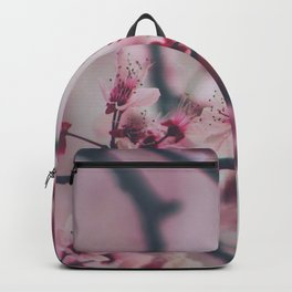 Pink Cherry Blossom On Branch Backpack