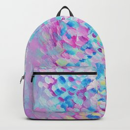 Colourful / Multicoloured Abstract Alive Painting Backpack