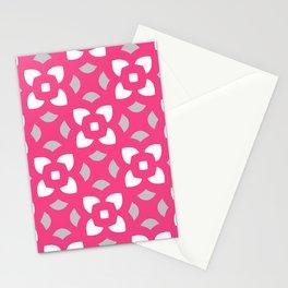 Kerstin - pink & grey Stationery Cards