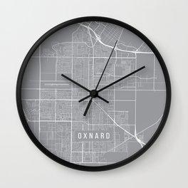 Oxnard Map, California USA - Pewter Wall Clock