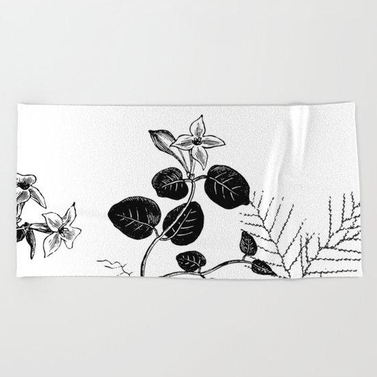 Minimal Spring design Beach Towel