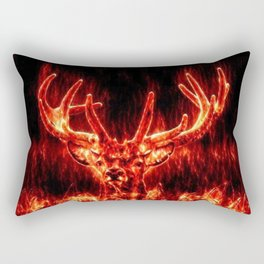 Fire Deer Rectangular Pillow