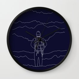 To the Mountains Wall Clock