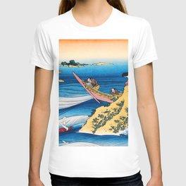 12,000pixel-500dpi -Katsushika Hokusai - The Illustrations To 100 Poems By 100 Poets, Sangi Takamura T-shirt