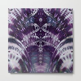 Purple Fractal Tie Dye Tie Dye Metal Print