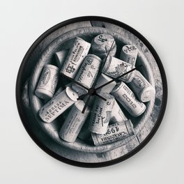 Collection of Corks. Wall Clock