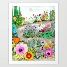 Flower Garden Wander Art Print