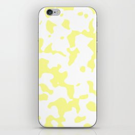 Large Spots - White and Pastel Yellow iPhone Skin