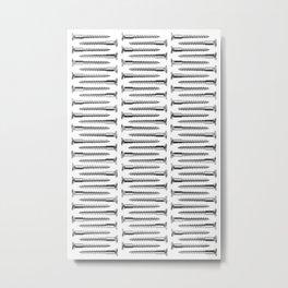 Silver Screws Texture Poster Metal Print