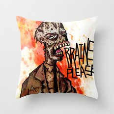 Brains Please Throw Pillow
