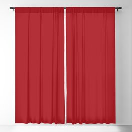 ADRENALINE RUSH Dark Red solid color Blackout Curtain