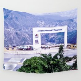 View of the national park of Chicamocha Wall Tapestry