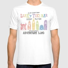 Adventureland White 2X-LARGE Mens Fitted Tee