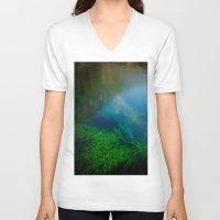 underwater V-neck T-shirts featuring underwater by habish