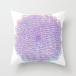 Techno Flower Throw Pillow