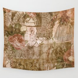 Vintage & Shabby Chic - Victorian ladies pattern Wall Tapestry
