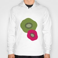 kiwi Hoodies featuring kiwi by HeartWork Brand