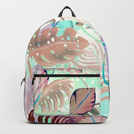 Fresh Tropical Leaves Backpack