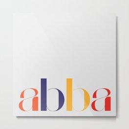 abba Typographic Design Metal Print