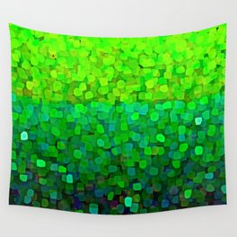 Glitter Sparkles Green Wall Tapestry