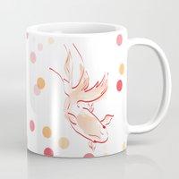 goldfish Mugs featuring goldfish by 1 monde à part