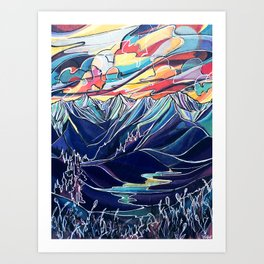 Silvercup Ridge, BC Art Print