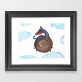 Horse In The Sky Framed Art Print