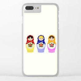 Russian matryoshka nesting dolls Clear iPhone Case