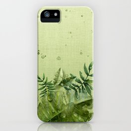 """""""Forest leaves and plants"""" iPhone Case"""