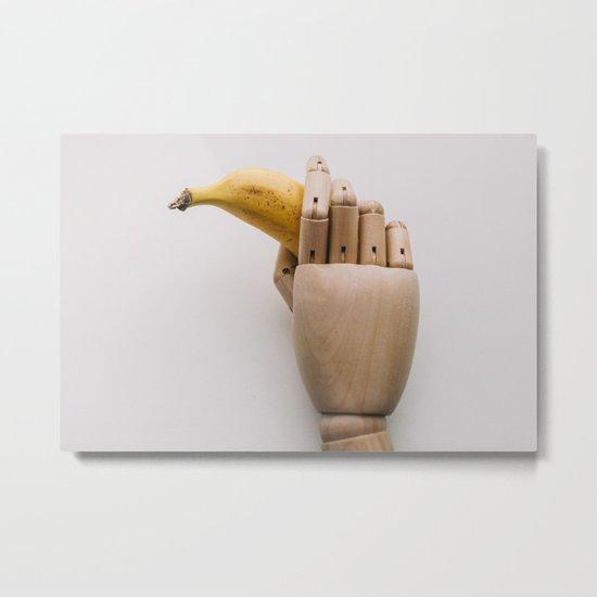 Banana hand Metal Print