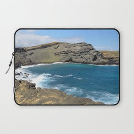 Green Beach and Turquoise Ocean Laptop Sleeve