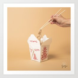Hair in Food: Noodles Art Print