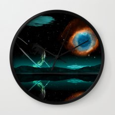 Mountain Earth and Milkway Wall Clock